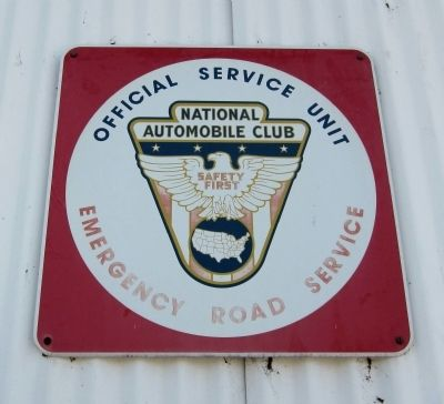 National Autormobile Club Sign (mounted on the garage, above the Pepsi sign and historical marker) image. Click for full size.