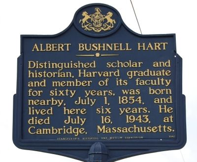 Albert Bushnell Hart Marker image. Click for full size.