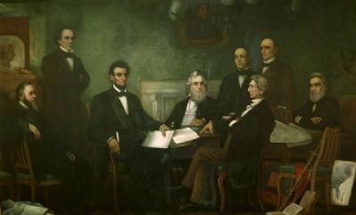 First Reading of the Emancipation Proclamation of President Lincoln image. Click for full size.