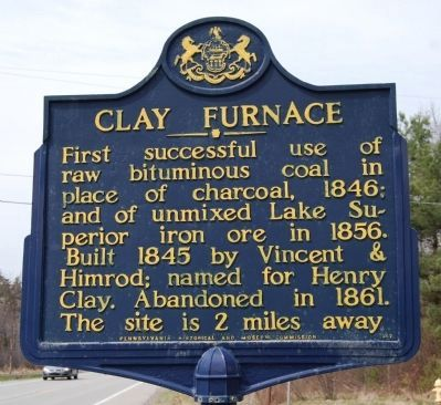 Clay Furnace Marker image. Click for full size.