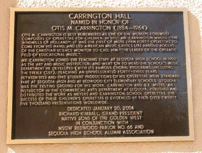 Carrington Hall Marker image. Click for full size.