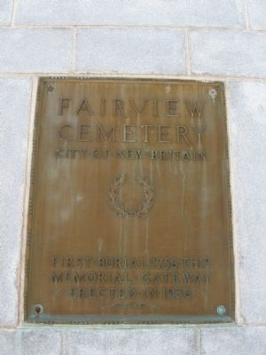 Fairview Cemetery Marker image. Click for full size.