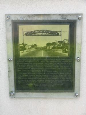 Redwood City Arch Marker Photo, Click for full size