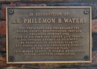Mr. Philemon B. Waters Marker image. Click for full size.