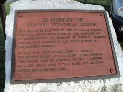 Stonewall Jackson Marker Photo, Click for full size