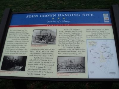 John Brown Hanging Site Marker image. Click for full size.