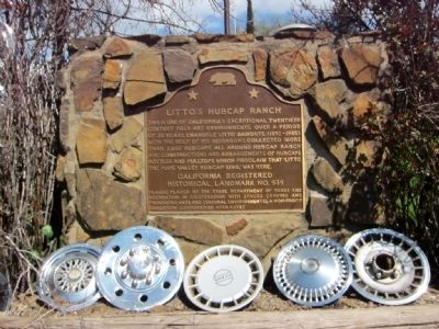 Litto's Hubcap Ranch Marker image. Click for full size.