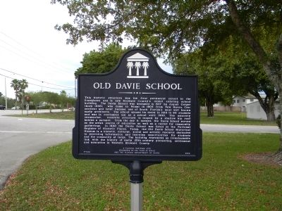 Old Davie School Marker Photo, Click for full size