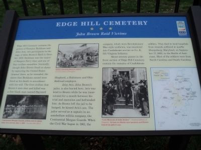 Edge Hill Cemetery Marker image. Click for full size.