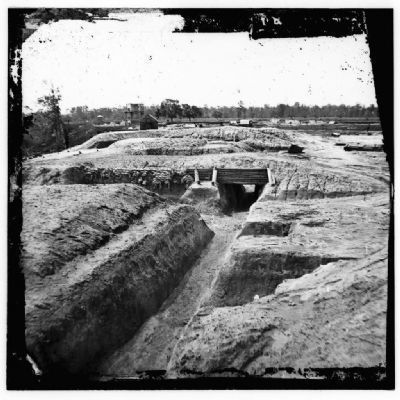 Battery Dantzler earthworks Photo, Click for full size