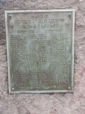 South Coventry Twp. WW II Memorial image. Click for full size.