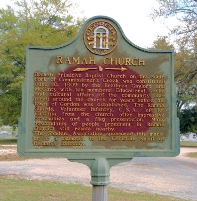 Ramah Church Marker image. Click for full size.