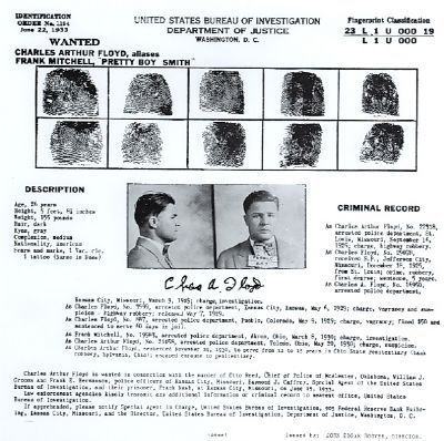 Charles Arthur Floyd Arrest Record image. Click for full size.