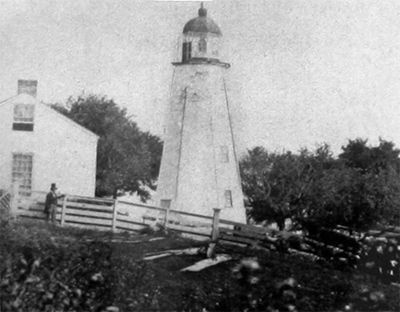 Charlotte-Genesee Lighthouse with Original Lantern and Dwelling image. Click for full size.