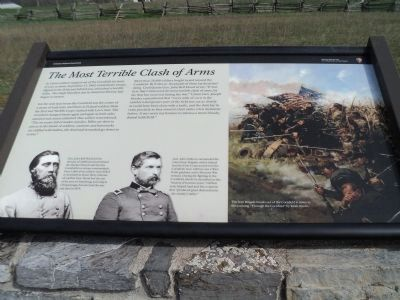 The Most Terrible Clash of Arms Marker Photo, Click for full size