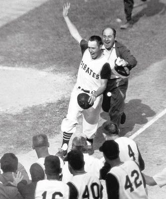 Bill Mazeroski's walk-off home run image. Click for full size.