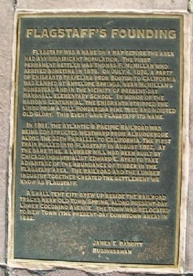 Flagstaff's Founding Marker image. Click for full size.