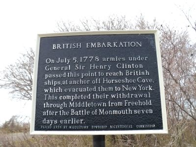 British Embarkation Marker image. Click for full size.