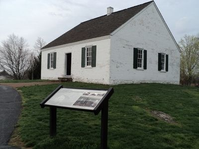 Marker at the Dunker Church image. Click for full size.