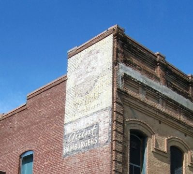 Ghost signs on the southeast corner of the Hotel De Vilbiss building image. Click for full size.