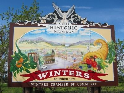 Visit Historic Downtown - Winters, Founded 1875 image. Click for full size.