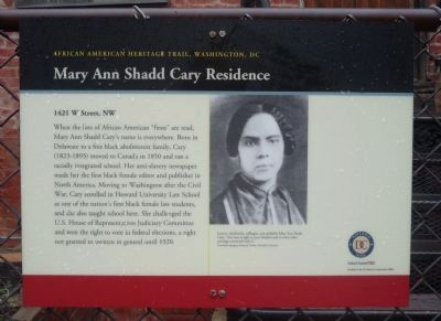 Mary Ann Shadd Cary Marker - Panel 2 image. Click for full size.