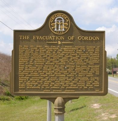 The Evacuation of Gordon Marker image. Click for full size.