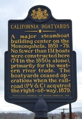 California Boatyards Marker image. Click for full size.