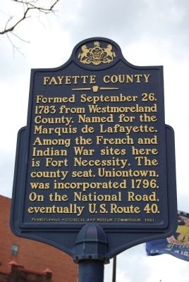 Fayette County Marker Photo, Click for full size