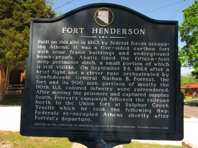 Fort Henderson Marker Photo, Click for full size