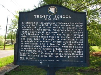 Trinity School - <i>1865-1970</i> Marker Photo, Click for full size