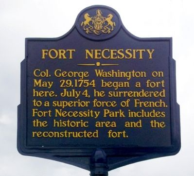 Fort Necessity Marker image. Click for full size.
