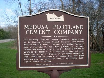 Medusa Portland Cement Company Marker image. Click for full size.