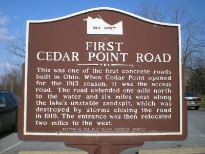 First Cedar Point Road Marker image. Click for full size.