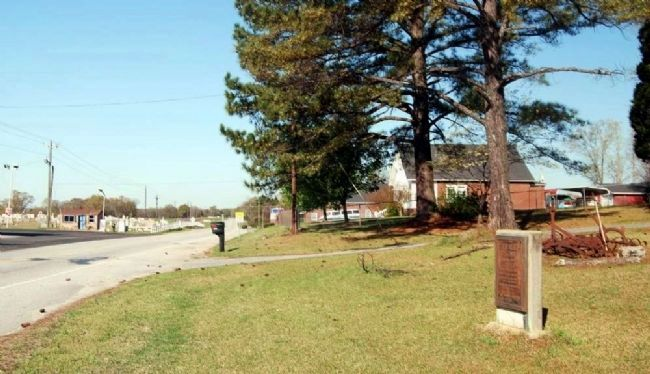 S.J. Workman Highway and Marker -<br>Looking West from the Marker image. Click for full size.