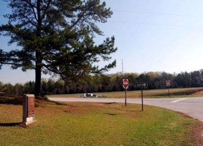S.J. Workman Highway and Marker -<br>Looking East from the Marker image. Click for full size.