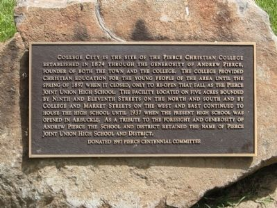Pierce Christian College Marker image. Click for full size.