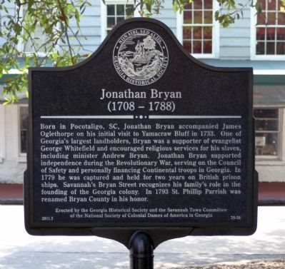 Jonathan Bryan Marker image. Click for full size.