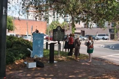 Jonathan Bryan Marker, day of Unveiling and Dedication image. Click for full size.