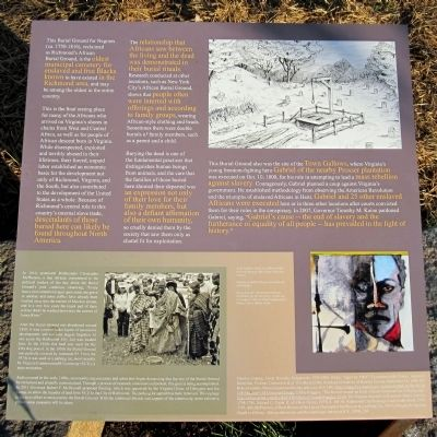 Richmond�s African Burial Ground Marker (right panel) image. Click for full size.