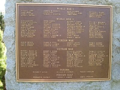 Falls Village Veterans Monument image. Click for full size.
