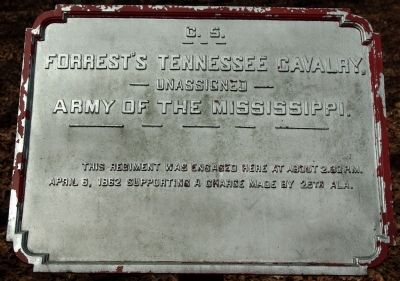 Forrest's Tennessee Cavalry Marker image. Click for full size.
