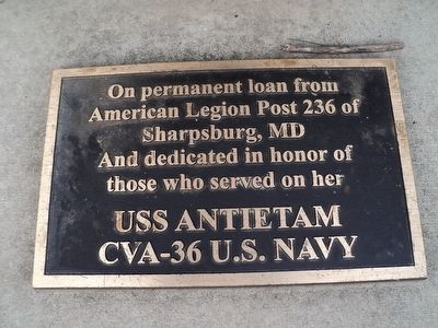 USS Antietam Bell Plaque image. Click for full size.