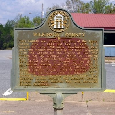 Wilkinson County Marker image. Click for full size.