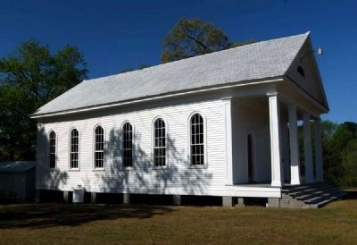 Spann Methodist Church -<br>East Elevation image. Click for full size.
