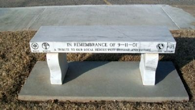 9/11 Memorial Bench in Ed Smalley Centennial Park Photo, Click for full size