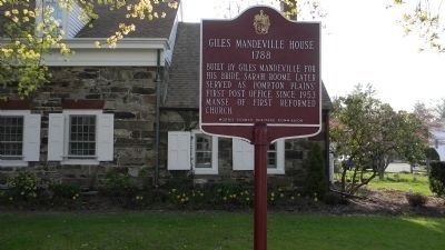 Giles Mandeville House Marker image. Click for full size.