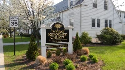 First Reformed Church Sign image. Click for full size.