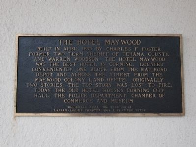 The Hotel Maywood Marker image. Click for full size.
