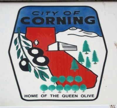 Detail on Corning City Hall Sign image. Click for full size.